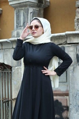 - Dantelli Abiye Elbise MPR4454-1-siyah (1)