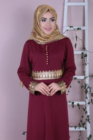 - Dövmeli Varaklı Elbise 8973-3 (1)