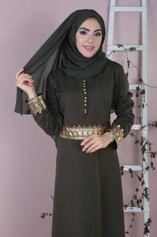 - Dövmeli Varaklı Elbise 8973-4 (1)