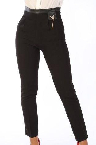 Deri Detaylı Pantolon 2009-01 - Thumbnail