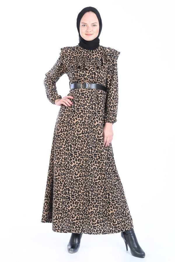 Kemerli Elbise 7999-02