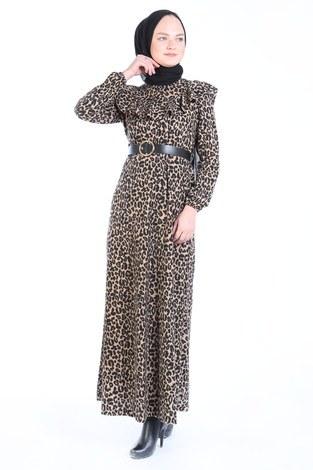 Kemerli Elbise 7999-02 - Thumbnail
