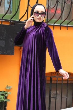 - Piliseli Kadife Elbise 01923-13 (1)
