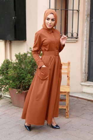 Kemerli Elbise 91101-01 - Thumbnail
