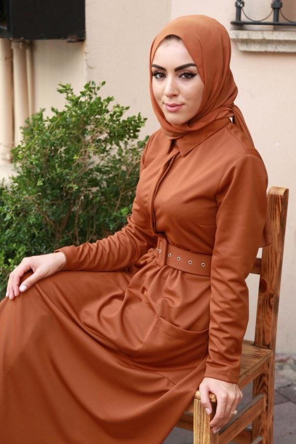 Kemerli Elbise 91101-01