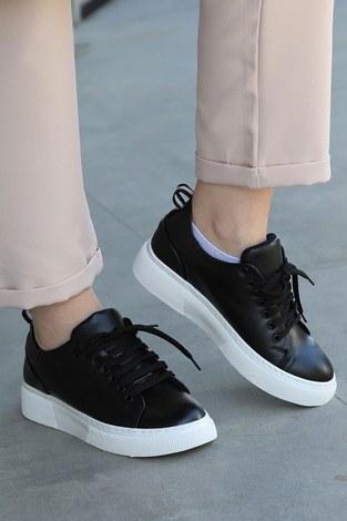 - Düz Renk Spor Ayakkabı 6159-1 Siyah (1)