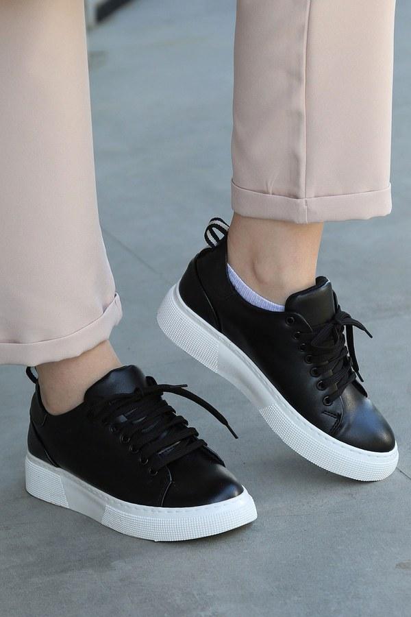 Düz Renk Spor Ayakkabı 6159-1 Siyah