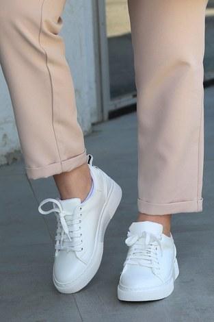 - Düz Renk Spor Ayakkabı 6159-2 Beyaz (1)