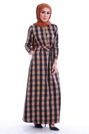 - Ekose Desen Elbise 78990-02