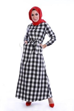 - Ekose Desen Elbise 78990-04