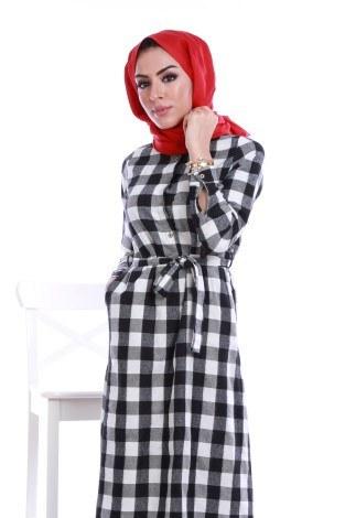 - Ekose Desen Elbise 78990-04 (1)