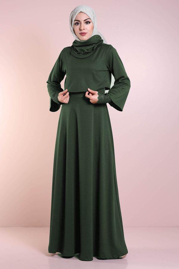 Elbise, Bolero ve Kolye 3 Parça Takım 3510-1