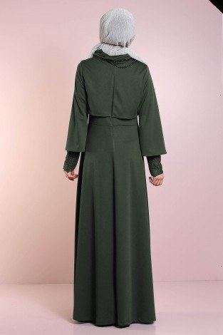 Elbise, Bolero ve Kolye 3 Parça Takım 3510-1 - Thumbnail