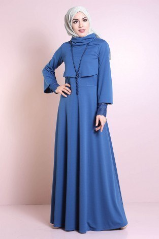 Elbise, Bolero ve Kolye 3 Parça Takım 3510-3 - Thumbnail