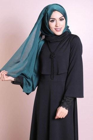 - Elbise, Bolero ve Kolye 3 Parça Takım 3510-4 Siyah (1)
