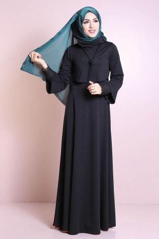 - Elbise, Bolero ve Kolye 3 Parça Takım 3510-4 Siyah