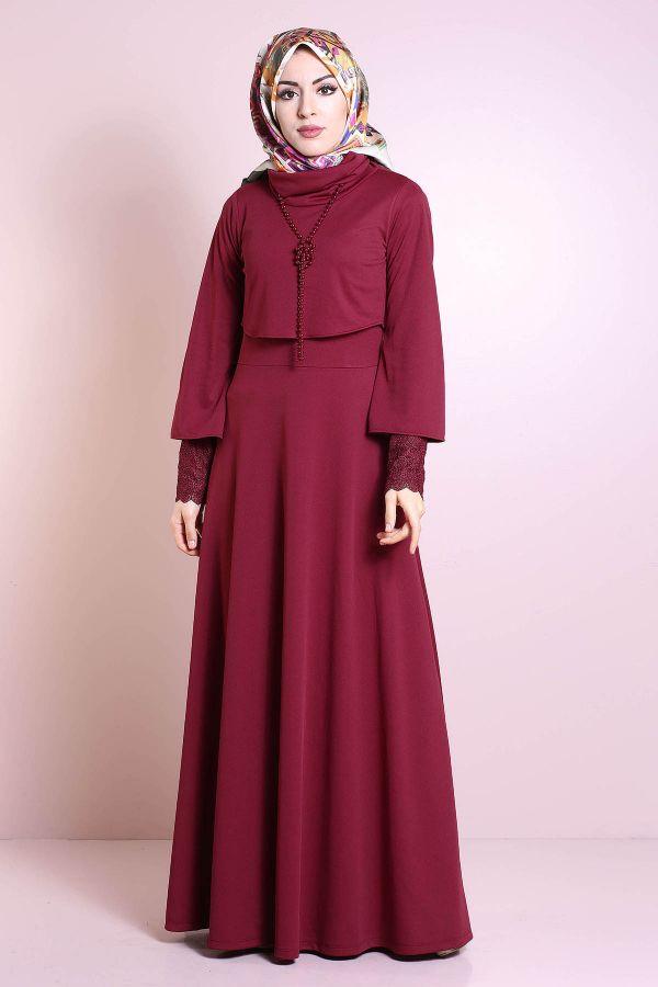 Elbise, Bolero ve Kolye 3 Parça Takım 3510-6