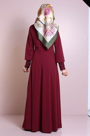 Elbise, Bolero ve Kolye 3 Parça Takım 3510-6 - Thumbnail