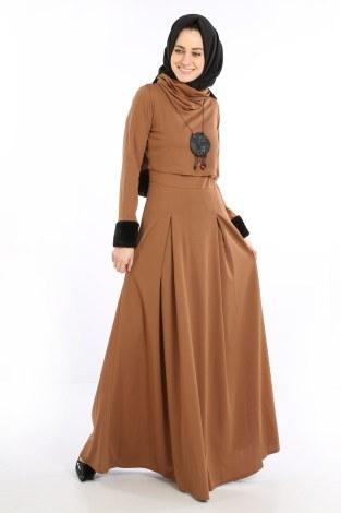 - Elbise, Bolero ve Kolye 3 Parça Takım 8430-2