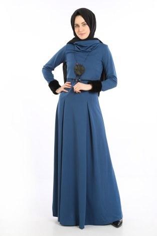- Elbise, Bolero ve Kolye 3 Parça Takım 8430-3