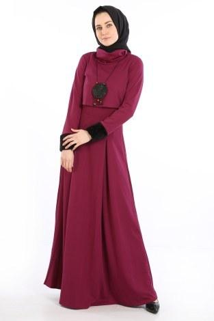 - Elbise, Bolero ve Kolye 3 Parça Takım 8430-4