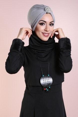 - Elbise, Bolero ve Kolye 3 Parça Takım 8430-6-siyah (1)