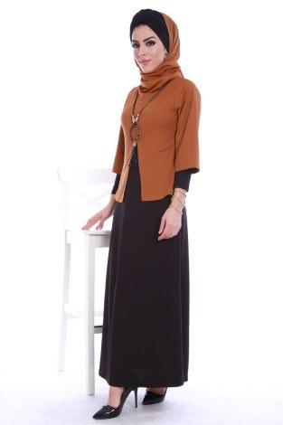 1 ALANA 1 BEDAVA - Elbise ve Seyyar Bluz İkili Takım 3113-1