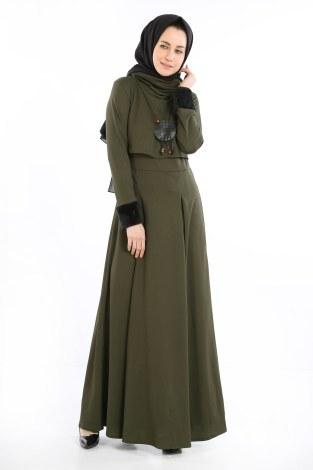 - Elbise, Bolero ve Kolye 3 Parça Takım 8430-1
