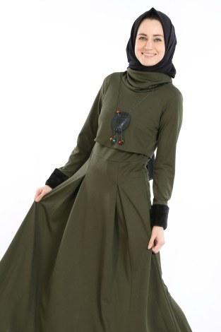 - Elbise, Bolero ve Kolye 3 Parça Takım 8430-1 (1)