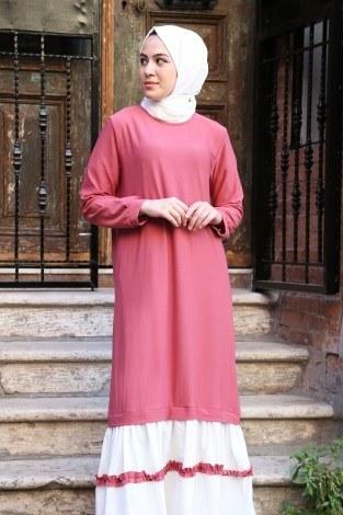 - Eteği fırfır Detaylı Elbise 2893-06 (1)
