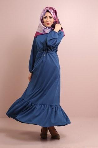 - Etekleri Fırfırlı Beli Bağcıklı Elbise 2025-12