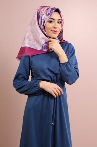 Etekleri Fırfırlı Beli Bağcıklı Elbise 2025-12 (1)