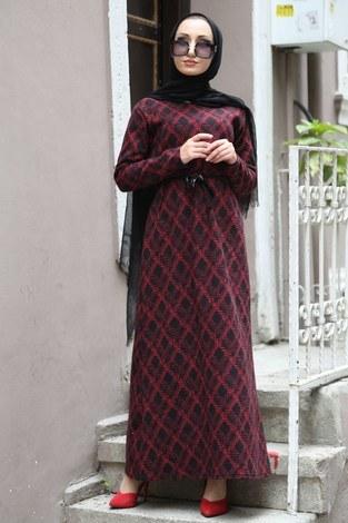 Etnik Desen Elbise 8822-03 - Thumbnail