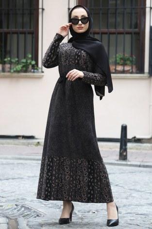 - Etnik Desen Elbise 8841-22