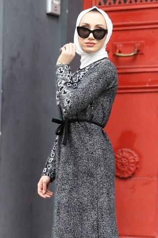 - Etnik Desen Elbise 8841-12 gri (1)