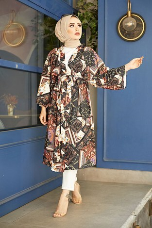 - Etnik Desenli Kimono 1457-1