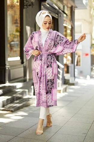 - Etnik Desenli Kimono 1457-3