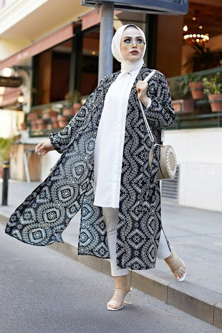 - Etnik Desenli Kimono 4899-1