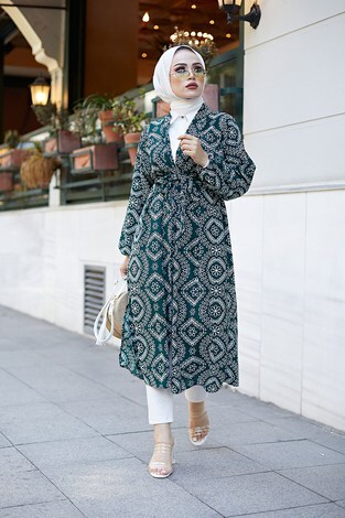 - Etnik Desenli Kimono 4899-2