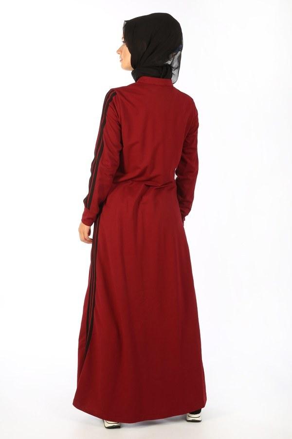 Fermuarlı Spor Ferace Elbise 1819-03