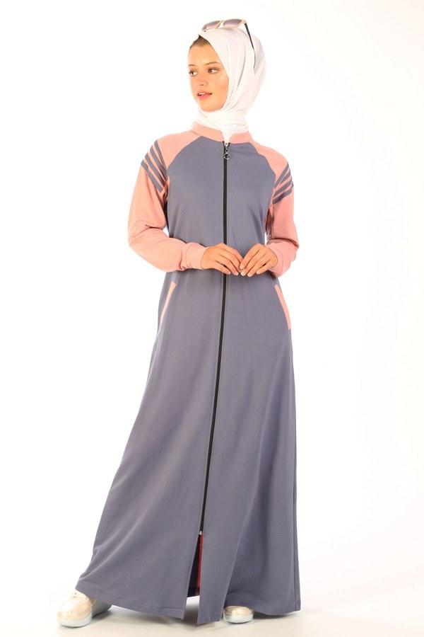 Fermuarlı Elbise 1819-13