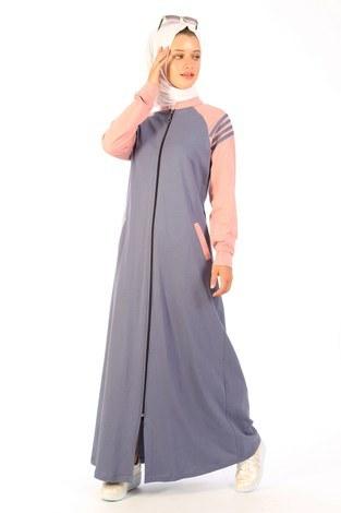 - Fermuarlı Elbise 1819-13