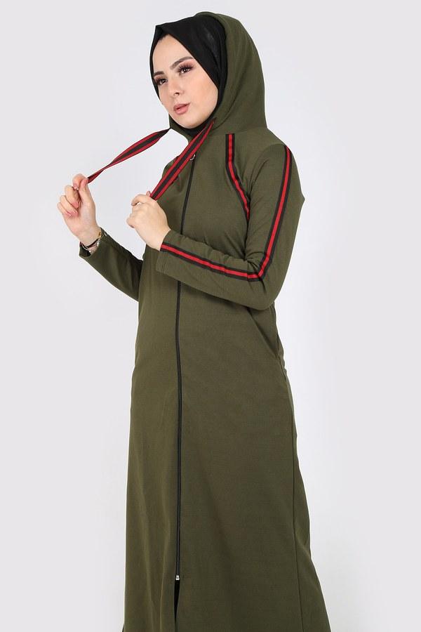 Fermuarlı Spor Ferace Elbise 1819-04