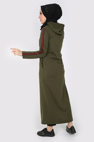 Fermuarlı Spor Ferace Elbise 1819-04 - Thumbnail