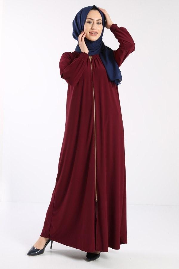 Fermuarlı Ferace Elbise 1138-02
