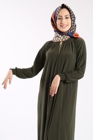 Fermuarlı Ferace Elbise 1138-03 - Thumbnail
