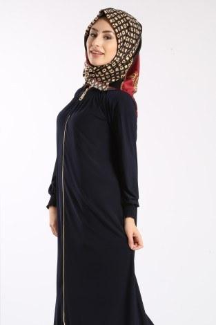 - Fermuarlı Ferace Elbise 1138-04 (1)