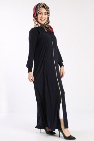 - Fermuarlı Ferace Elbise 1138-04