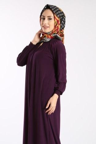 - Fermuarlı Ferace Elbise 1138-05 (1)