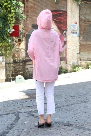 Fermuarlı Trençkot 8416-09 - Thumbnail